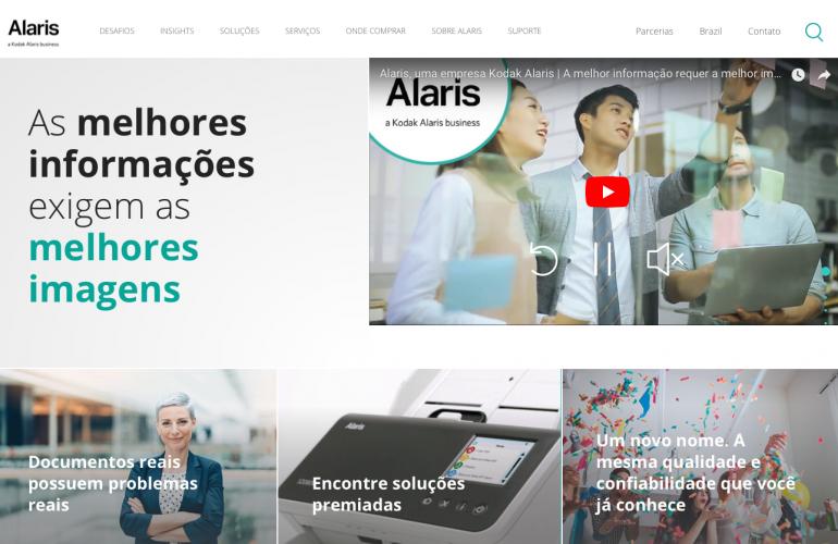 A Kodak Alaris Information Management agora é a Alaris, um novo conceito, mas com a mesma qualidade